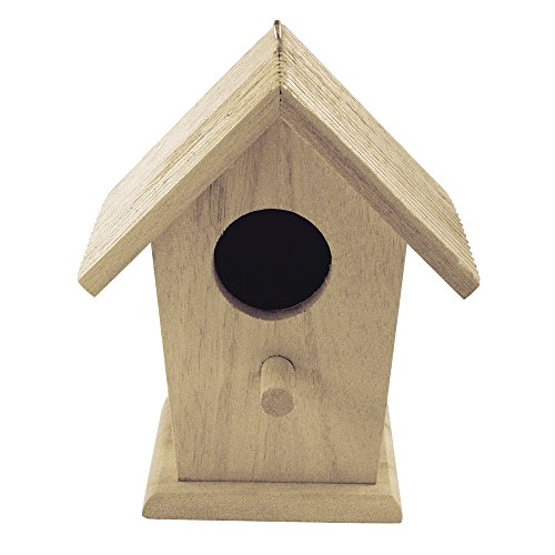 Rayher 62290000 Holz Vogelhaus FSC Mix Credit, 12x7,5x13cm