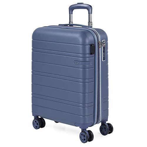 JASLEN - Maleta Cabin Pequeña con Ruedas Rígida Extensible Hombre Mujer. Conexión para Carga USB. 4 Ruedas Trolley. Equipaje de Mano. Candado de Seguridad TSA. 171250, Color Azul