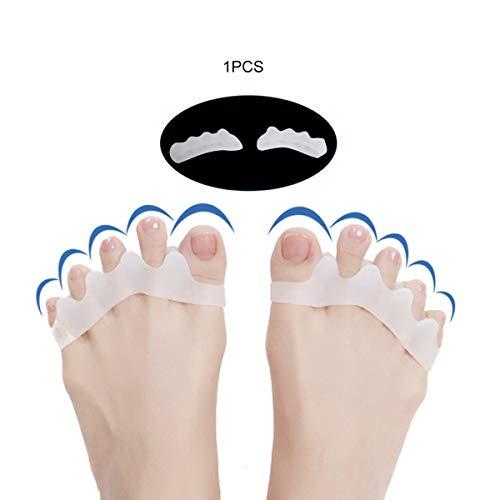 Nihlssen 5 Agujeros Alto elástico Dedo del pie enderezadora Dedo del pie en Martillo Hallux Valgus Corrector Vendaje Separador del Dedo del pie Vendaje para el Cuidado de los pies