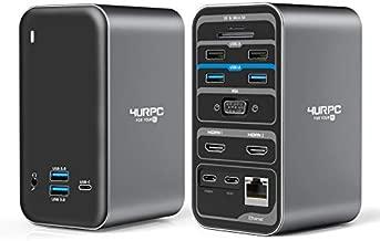 USB C Laptop Docking Station Dual Monitor HDMI, 15-in-1 USB C Dock with Dual HDMI, VGA, 6 USB, 60W USB C Charging, SD TF Slot, RJ45 and Audio/Mic, USB C Docking Station Dual Monitor for USB C Windows