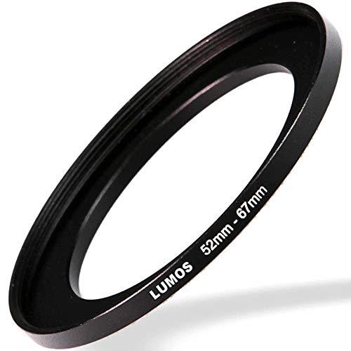 LUMOS Step up Ring 52-67 - Metall Filteradapter matt schwarz - von Kamera Objektiv mit 52mm Filtergewinde auf 67mm Filter - Zubehör Adapter