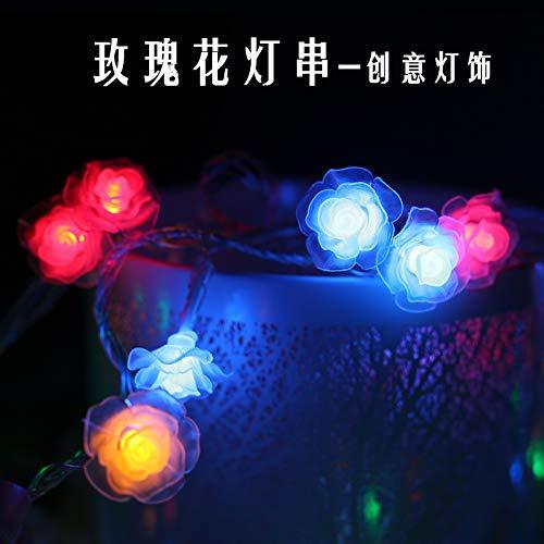 Lichtketting, decoratief, werkt op batterijen, voor slaapkamer, buiten, 10 m, 100 leds, roze, kleine lichtketting, meisjes, hart, kamer, roze, geel