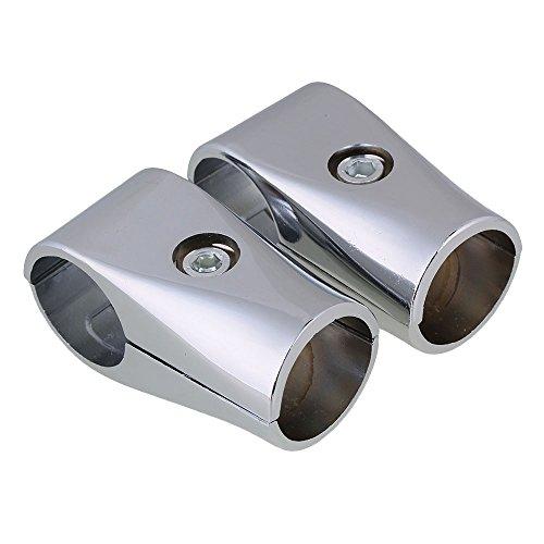 BQLZR 32mm ID Silber Aluminium Zwei-Wege-Regal Display Rack Gerüst Rohrverbinder Rohrverschraubungen Packung mit 2