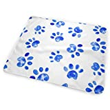 Zcfhike Changing Pad Large Dog Watercolor Paw Prints Portable Diaper Changing Pad - for Baby Showers Changing Mats and Reusable Detachable Wipe Able Mat- Unisex