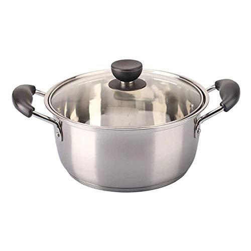 Hexiao Casseruola, Pot della minestra Acciaio Inox 304 Inferiore Cucina Cucina a induzione/Gas General Purpose Latte Pot Adatto for Le Famiglie 18CM xiao1230