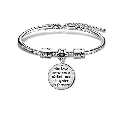 Mutter-Tochter-Armband, Anhänger mit Aufschrift