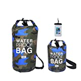 DOGMONEY Waterproof Bag Set of 3 Two Different Size Shoulder Straps &Phone Case Waterproof Bags Backpacking, Rafting, Kayaking, Boating, Camping, Hiking, Waterproof Portable Durable Multifunctional