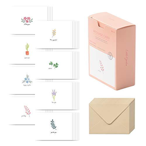 モノライク メッセージカード ミニカードリトルガーデン Message cardLittle garden - 40枚封筒20枚セット...