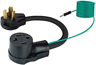 Bslite 10-30P to 14-30R Dryer Adapter Cord, Heavy Duty 4 prong to 3 prong, STW 10-AWG, with Additional Green Ground Wire, 30A, 250V, 1.5FT