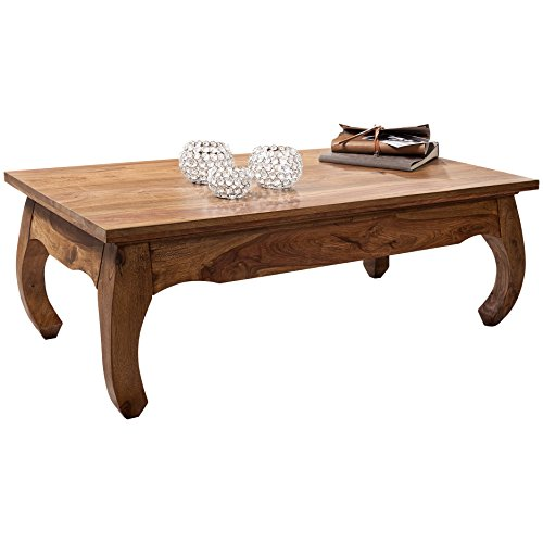 Wohnling WL1.220 Table de Salon en Bois de sheesham Massif 110 x 60x 40 cm