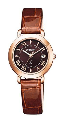 [シチズン] 腕時計 クロスシー Hikari Collection Titania Happy Flightシリーズ エナメルカーフ使用 ES9442-04W レディース ブラウン