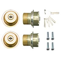 LIXIL(リクシル) TOSTEM ドア錠セット(MIWA URシリンダー)内筒のみ ゴールド DCLZ721