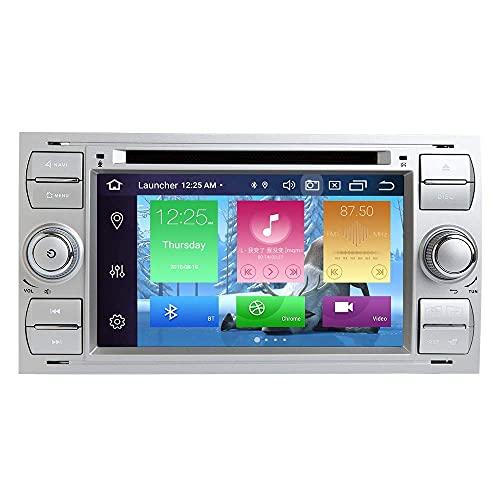 W-bgzsj para Ford Focus Mondeo S-MAX C-MAX Galaxy COCE Stereo GPS Navegación Táctil Toque Reproductor de Medios Radio Doble DIN Head Unidad Soporte Soporte Mirror WiFi OBD SWC Volante Control