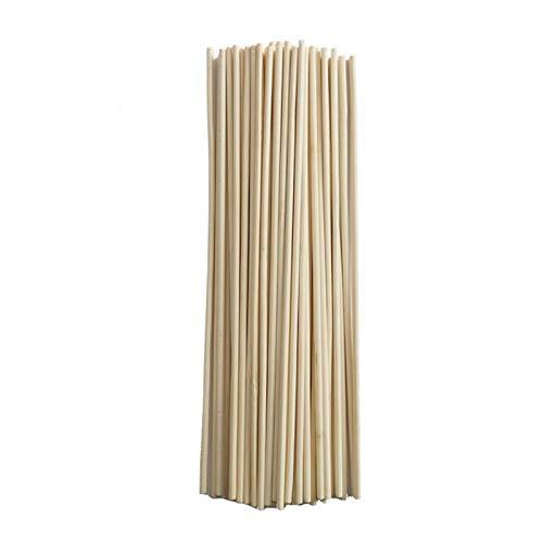 ¡50 pcs!Planta de Madera Crece Soporte Planta de bambú Sticks para Flor Stick Cane Stands Agricultura Jardín Herramienta Bonsai (Color : A, Size : 3x200MM)