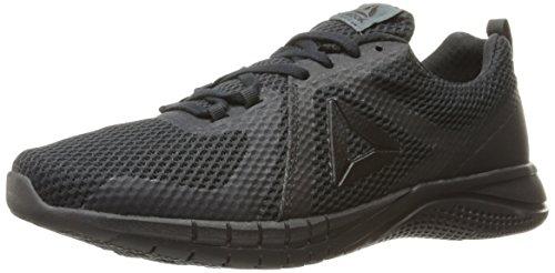Reebok Men's Print Run 2.0 Shoe, Black/Lead, 10 M US