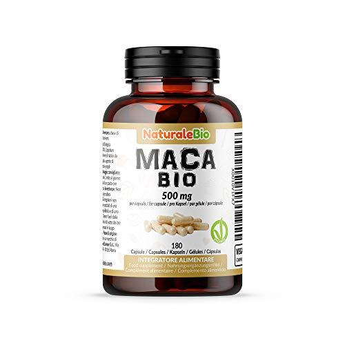 Maca Peruviana Biologica in Capsule da 500mg (180...