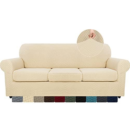 MAXIJIN 4 Piezas más Nuevas Fundas de sofá para 3 plazas e