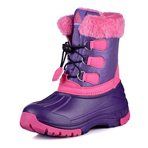 Nova Mountain Boy's and Girl's Waterproof Winter Snow Boot