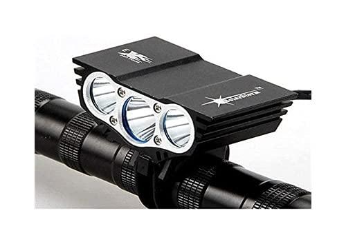 hsj LF- Luces LED para bicicleta de montaña recargables 18650 – Juego de lámpara de antorcha de bicicleta – Fácil de instalar