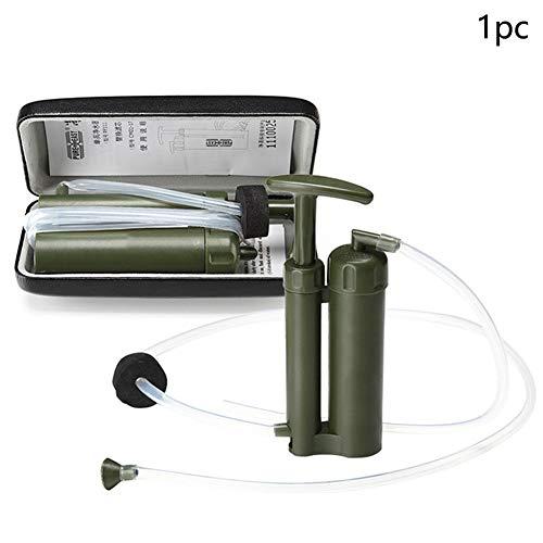 NO Logo Filtre à Eau de Survie d'urgence Stérilisation Céramique Nettoyant Camping Extérieur Purificateur Ultra Léger Portable Pratique Mini, Vert