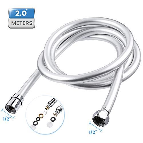 Baban 2M Flessibile Doccia, G1 / 2' Connettori, PVC Tubo, Adatto Maggior Parte doccia soffione, Facile da Installare e Resistente ad Alta Temperatura