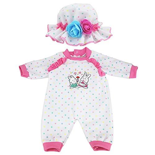 """ZWOOS Ropa de Muñecas para New Born Baby Doll, Onesie de Algodón con Sombrero para 18 """" Muñecas (40-45 cm)"""