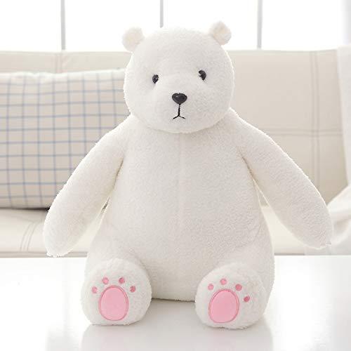 Metermall Home pluche gevulde pop Bear Shape Toy Sierkussen voor kinderen Vriendin Slaapt wit