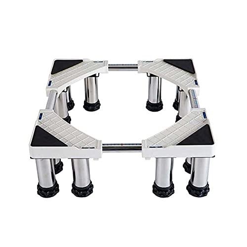 GNY Stand Lavatrice - Base telescopica Banco Frigorifero alzato, con 12strong Piedi per Lavatrice Asciugatrice Armadio Frigorifero Muoviti e pulisci Facilmente