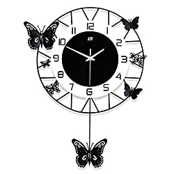 QINGQING Wall Clock Creative Butterfly Wall Clock Fashion Wall Decorative Hanging Clock Art Decor for Living Room Wall Art Home Decor