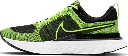 Nike React Infinity Run FK 2, Zapatillas para Correr Hombre, Volt Volt Black, 41 EU