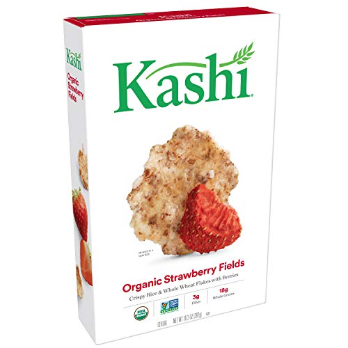 Kashi, Breakfast Cereal, Strawberry Fields, Organic and Vegan, 10.3oz Box