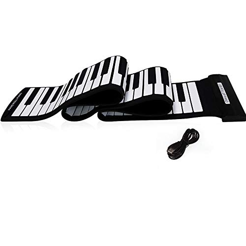 Best Buy! FJFJFJ 88 Keys MIDI Roll up Piano Silicone Electronic Keyboard Piano Flexible Professional...