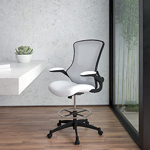 4. Silla de Dibujo de Espuma con Red Blanca Flash Furniture