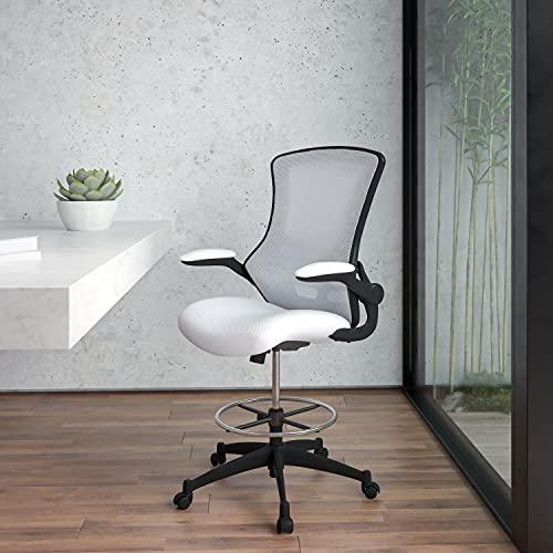 Flash Furniture Silla de Dibujo de Espuma con Red Blanca, 64,77 x 62,23 x 128,91 cm