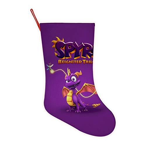 Classic SP-yro The Dragon Large Christmas Stocking,3D Printed Festival Party Home Decorative Socks Gift Bags Santa/Deer