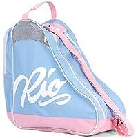 Rio Roller Script Skate Bag, Bolsa de tela y de playa Unisex Adulto, Multicolor (Blue/Pink), 24x15x45 cm (W x H x L)