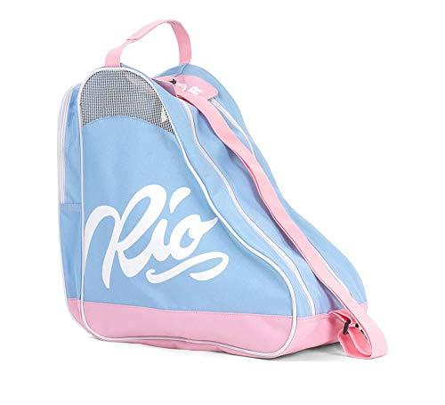Rio Roller Roller Script Skate Bag, Unisex-Erwachsene Stofftasche, Mehrfarbig (Blue/Pink), 24x15x45 cm (W x H L)