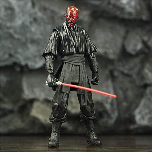 WJRAY Star Wars Spielzeug Luke Skywalker Anakin Obi Wan Master Yoda C-3po R2-d2 Darth Maul Darth Vader Trooper 6