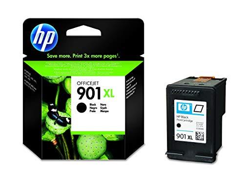 HP CC654AE 901XL Cartucho de Tinta Original de alto rendimiento, 1 unidad, negro