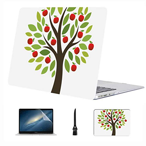 Macbook Pro Screen Protector Apple Tree Grow Tree Cartoon Plastic Hard Shell Compatible Mac Air 13' Pro 13'/16' Macbook Air Protective Cover Protective Cover For Macbook 2016-2020 Version