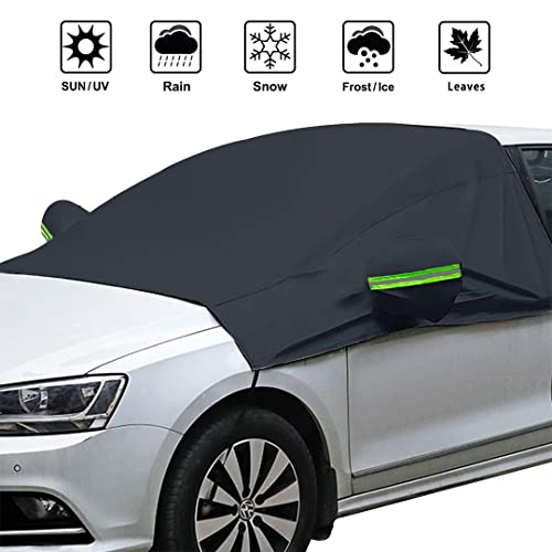 OMIGAO Extra Large Windshield Snow Ice Cover with Side Mirror Covers, Protects Windshield and Wipers...