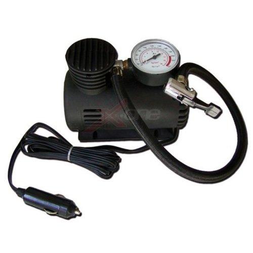 Mini compresseur pour urgences Accessoire pour Voiture 12 V avec manomètre Puissance 250 psi 18bar Universel