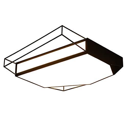 Lámpara de techo con forma de sombra, acrílico, LED, mando a distancia, monocromo, luz cálida, líneas geométricas, para el despacho, el dormitorio