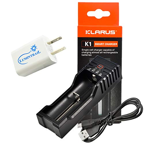 Klarus K1 Single Cell Smart Battery Charger for Li-ion 18650 16340 22650 /...
