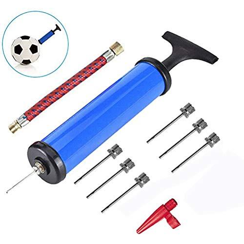 Sarari Inflador de bomba de bola, agujas, adaptador de manguera de aire, 10 unidades de tubo inflable salvavidas para globos de baloncesto, fútbol
