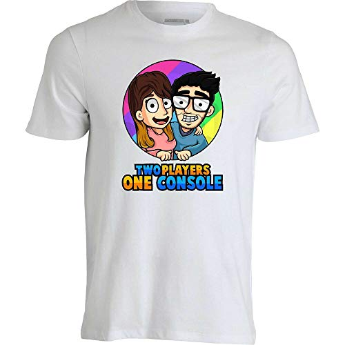 REW T-Shirt of Two Players One Console-Stef And phere Italian Youtuber Gaming Ver.2