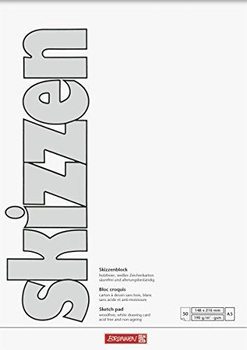 Brunnen 1047555 Zeichen-/Skizzenblock (A5, 190 g/m², 50 Blatt)