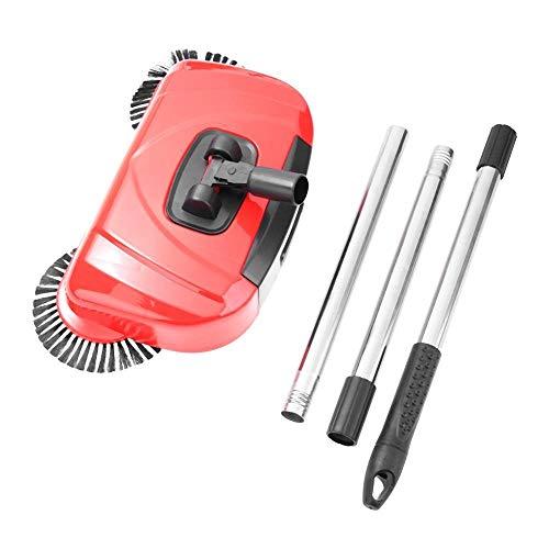 Acciaio Inossidabile Acciaio Acciaio Tipo Push Tipo Magic Broom Dustpan Maniglia Aspirapolvere per Uso Domestico Aspirapolvere Mano Push Sweeper Pavimento Robot (Color : Red)