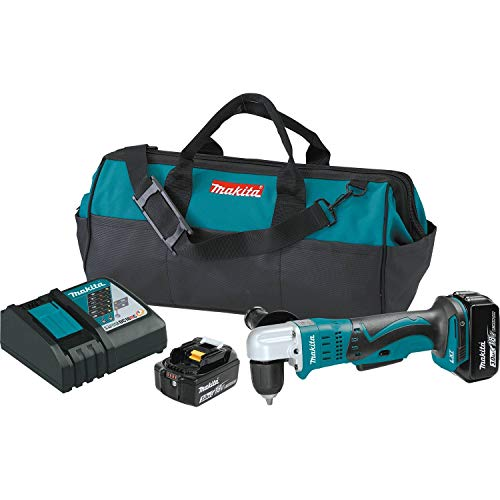 "Makita XAD02 18V LXT Litio-Ion Inalámbrico 3/8"" Kit de taladro angular (3.0Ah)"