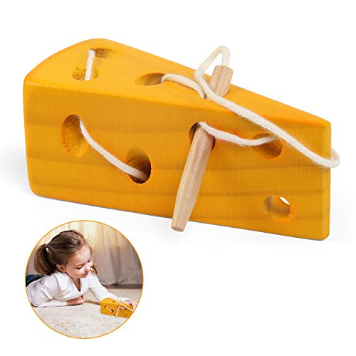 LinStyle Montessori Aktivität Holzkäsespielzeug, Holz Lernspielzeug Spielcente Entwicklung Baby Kleinkind Spilzeug
